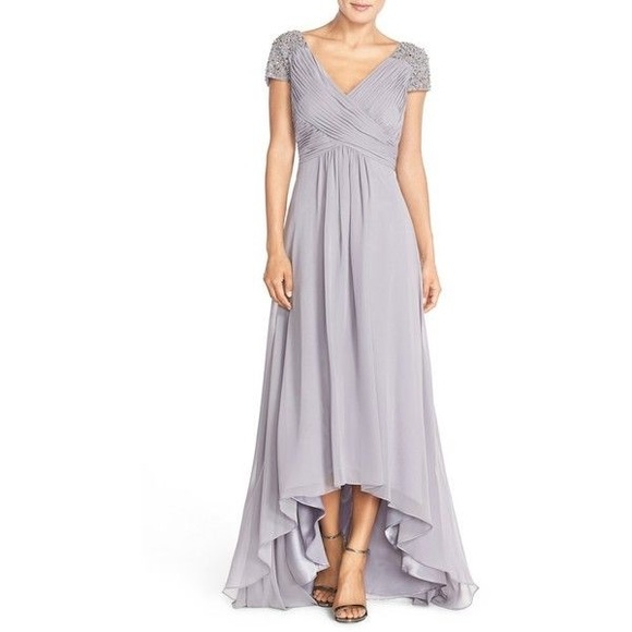 beb5886ec8d5 Eliza J Dresses & Skirts - Eliza J Beaded Shoulder Pleated Chiffon Gown ...
